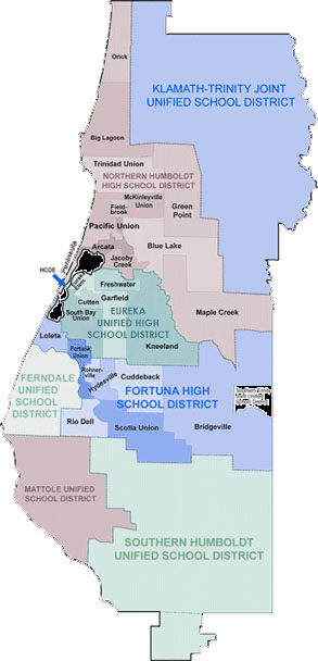Map of the High School District
